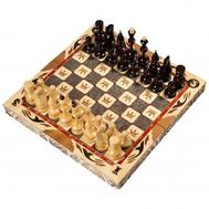 Шахматы резные ручной работы С Гербом средние 50х25х10 см, фото 1