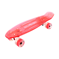 Скейтборд прозрачный PLAYSHION FS-PS002R (Красный), фото 1