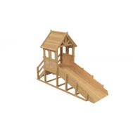 Зимняя деревянная заливная горка ВЫШЕ ВСЕХ ТЕРЕМОК (без покрытия), фото 1