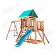 Игровая площадка BABYGARDEN с балконом, скалолазкой и горкой 1.8 м, фото 1