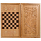Нарды + шашки Сенеж Соколиная Охота дуб 50х29х6,5 см, фото 1